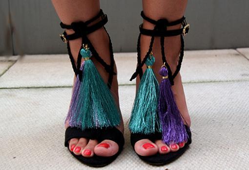 adornar sandalias paso a paso