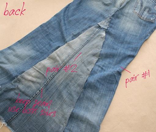 3da3cadb2 Cómo hacer una falda vaquera con pantalones - Ropa DIY
