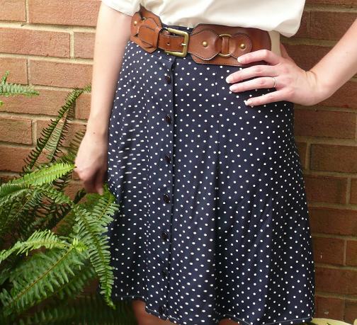 Convertir vestido en falda