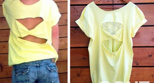 cortar camisetas por la espalda