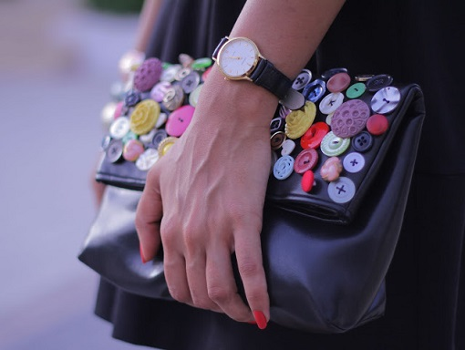 Customizar bolso con botones