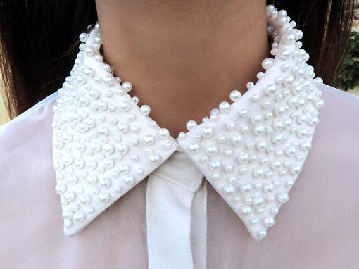 Customizar camisa con perlas