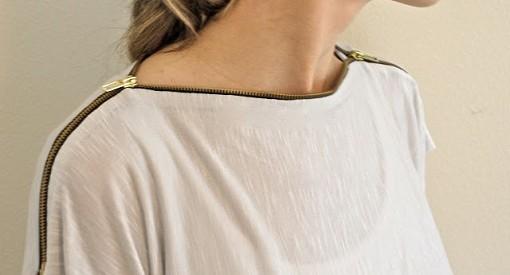 Customizar camiseta con cremallera