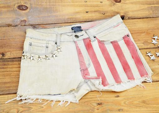 customizar jeans shorts