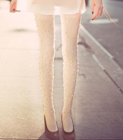 Customizar medias con perlas