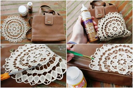 decorar bolso ganchillo