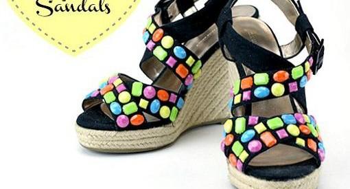 decorar sandalias con piedras