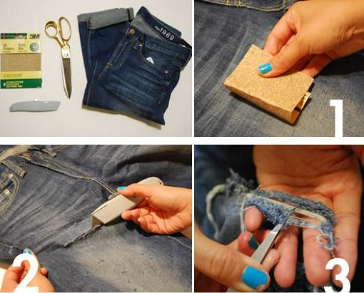hacer pantalones rotos