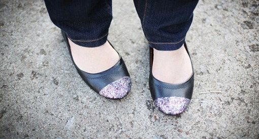 Zapatos con purpurna