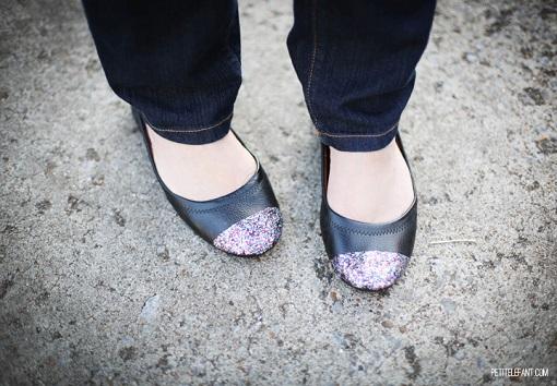 Zapatos con purpurina