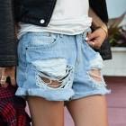 como hacer shorts rasgados