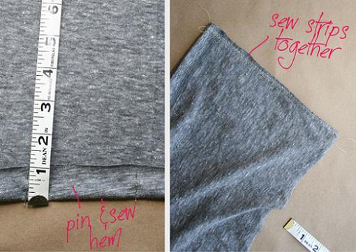 convertir camiseta en vestido