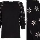 jersey de punto decorado con pedreria