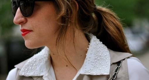 Blusa básica decorada