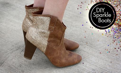 customizar botines y zapatos con glitter o purpurina