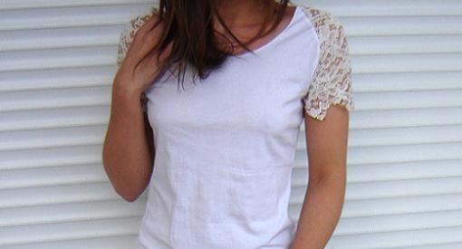 customizar camisetas con encaje
