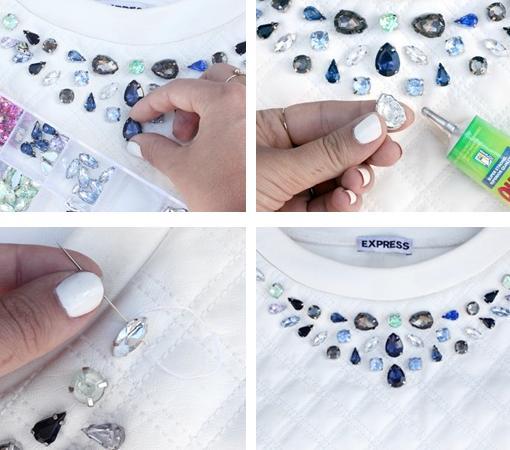 customizar ropa con pedreria