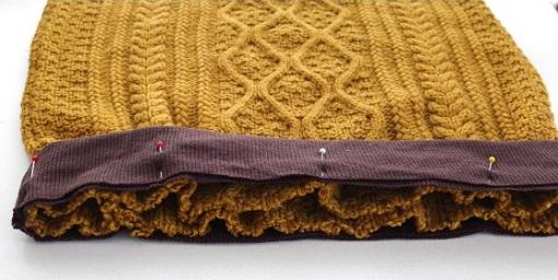 Reciclar un jersey para hacer una falda ropa diy - Como hacer un jersey de punto ...