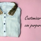customizar ropa con purpurina