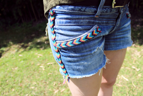 Customizar shorts vaqueros
