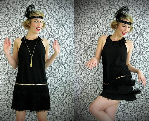 Customizar un vestido de fiesta negro