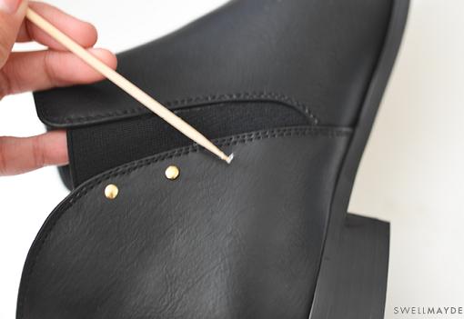 Customizar zapatos con tachuelas