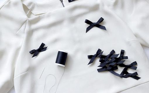 customizar ropa con lazos
