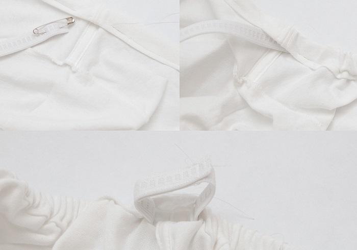 como hacer una camiseta o vestido con hombros