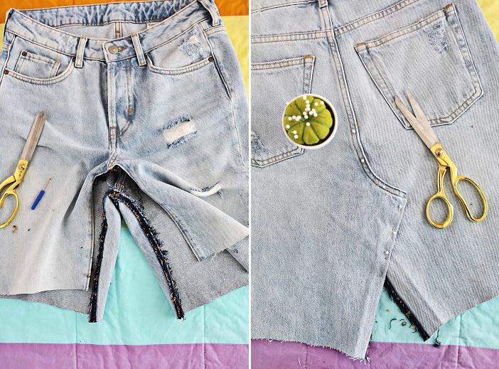 5831644f5 Cómo reciclar jeans para hacer una minifalda? | RopaDIY
